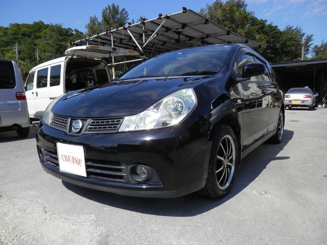 沖縄の中古車 日産 ウイングロード 車両価格 25万円 リ済込 2007(平成19)年 9.7万km ブラック