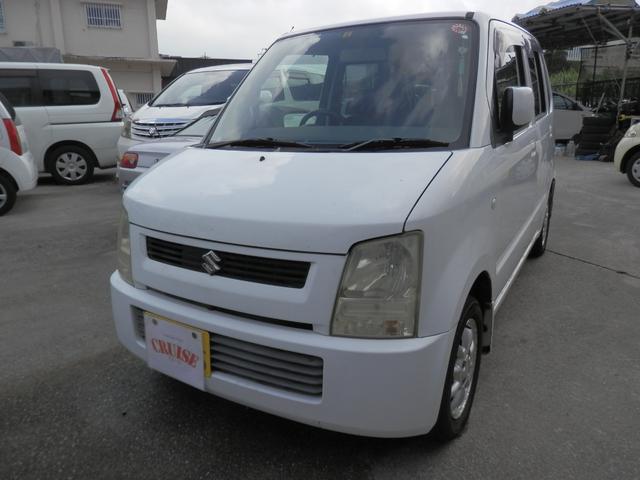 沖縄の中古車 スズキ ワゴンR 車両価格 15万円 リ済込 2004(平成16)年 12.5万km ホワイトM