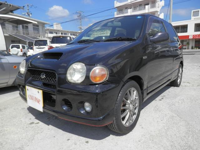 沖縄の中古車 スズキ アルトワークス 車両価格 34万円 リ済込 1999(平成11)年 16.4万km DブラックM