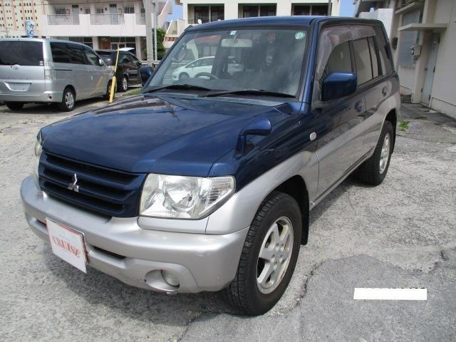 沖縄の中古車 三菱 パジェロイオ 車両価格 35万円 リ済込 2004(平成16)年 6.3万km ブルーII
