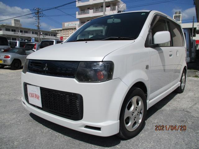 沖縄の中古車 三菱 eKスポーツ 車両価格 24万円 リ済込 2008(平成20)年 4.6万km パールホワイト