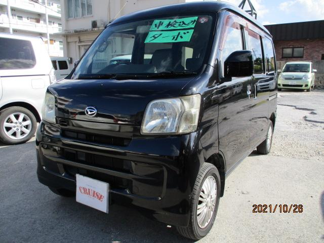 沖縄の中古車 ダイハツ ハイゼットカーゴ 車両価格 33万円 リ済込 2009(平成21)年 13.5万km ブラックM
