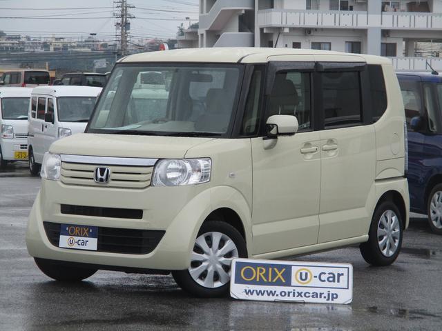 N-BOX(沖縄 中古車) 色:ヒダマリアイボリーパール 価格:75.5万円 年式:平成25年 走行距離:4.2万km