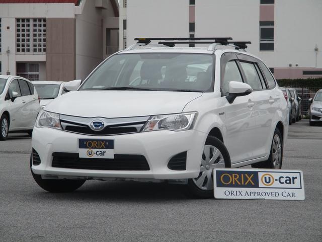 沖縄の中古車 トヨタ カローラフィールダー 車両価格 67.9万円 リ済別 2015(平成27)年 8.0万km スーパーホワイトII