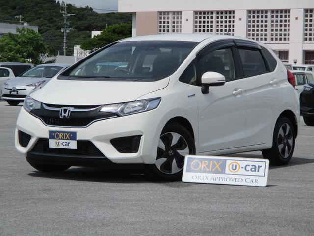 沖縄の中古車 ホンダ フィットハイブリッド 車両価格 73.9万円 リ済別 2016(平成28)年 5.2万km タフタホワイト