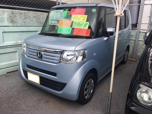 沖縄の中古車 ホンダ N-BOX 車両価格 59万円 リ済別 2012(平成24)年 12.5万km ライトブルーM