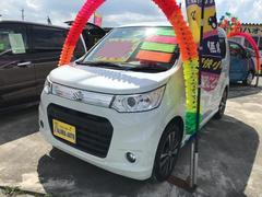 沖縄の中古車 スズキ ワゴンRスティングレー 車両価格 79万円 リ済込 平成25年 6.7万K パールホワイト