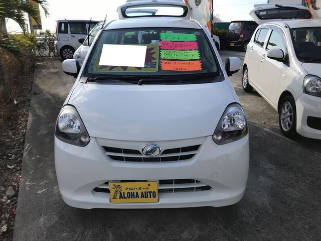沖縄の中古車 ダイハツ ミライース 車両価格 47万円 リ済込 平成25年 7.2万km ホワイト