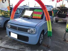 沖縄の中古車 スズキ アルトラパン 車両価格 67万円 リ済込 平成24年 7.9万K エアブルーメタリック