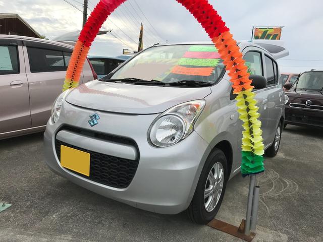 沖縄の中古車 スズキ アルトエコ 車両価格 47万円 リ済込 平成24年 7.1万km シルバー