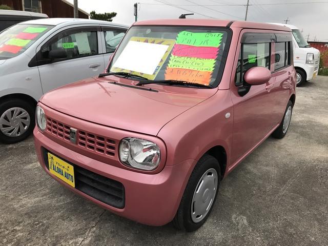 沖縄の中古車 スズキ アルトラパン 車両価格 69万円 リ済込 平成24年 6.9万km ピンク