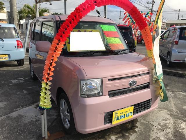 沖縄の中古車 ダイハツ ムーヴコンテ 車両価格 65万円 リ済込 平成26年 7.9万km ムースピンクパール