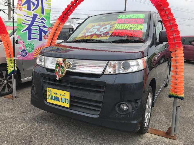 沖縄の中古車 スズキ ワゴンRスティングレー 車両価格 52万円 リ済込 平成21年 6.9万km ガンM