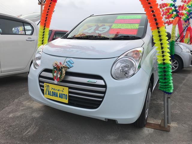 沖縄の中古車 スズキ アルトエコ 車両価格 49万円 リ済込 平成25年 6.0万km スペリアホワイト