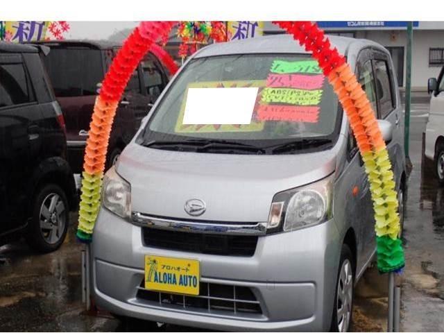 沖縄の中古車 ダイハツ ムーヴ 車両価格 63万円 リ済込 平成25年 6.0万km ブライトシルバーメタリック