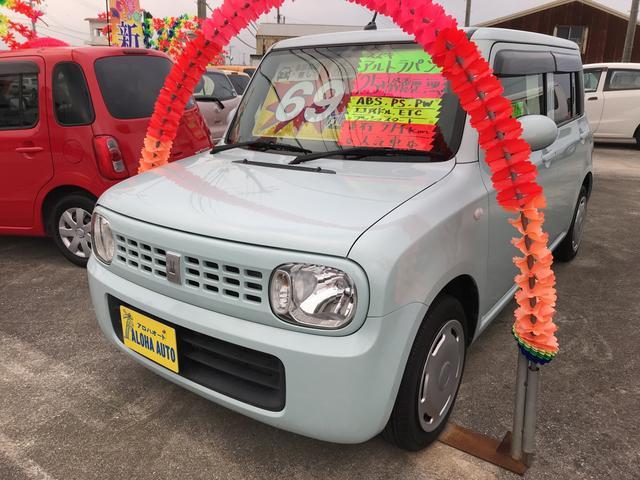 沖縄の中古車 スズキ アルトラパン 車両価格 69万円 リ済込 平成25年 7.1万km ライトブルーM