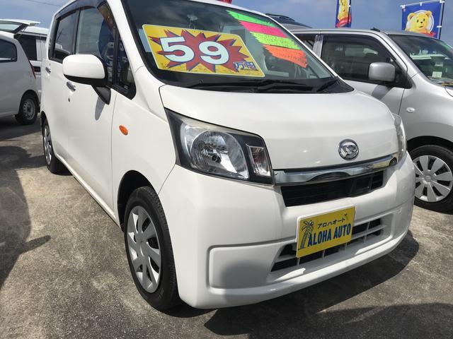 沖縄の中古車 ダイハツ ムーヴ 車両価格 59万円 リ済別 平成25年 6.6万km ホワイト