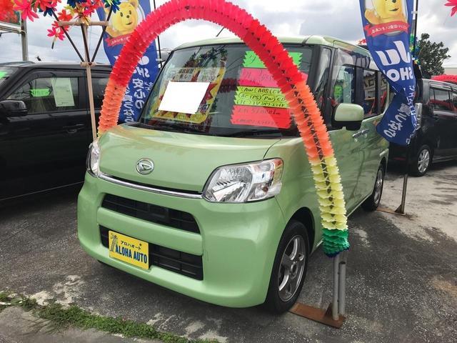 沖縄の中古車 ダイハツ タント 車両価格 87万円 リ済込 平成25年 5.1万km マスカットグリーンメタリック