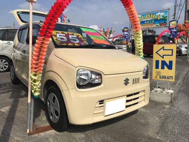 沖縄の中古車 スズキ アルト 車両価格 49万円 リ済別 2015(平成27)年 6.8万km イエロー