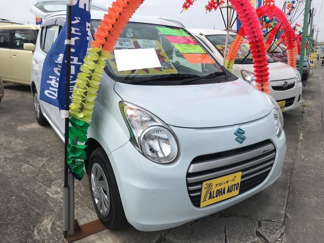 沖縄の中古車 スズキ アルトエコ 車両価格 45万円 リ済込 平成25年 6.9万km ライトブルー