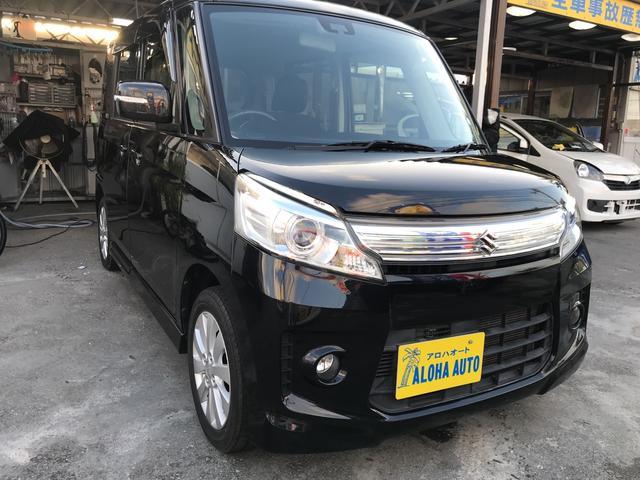 沖縄の中古車 スズキ スペーシアカスタム 車両価格 95万円 リ済別 2014(平成26)年 6.5万km ブラックM