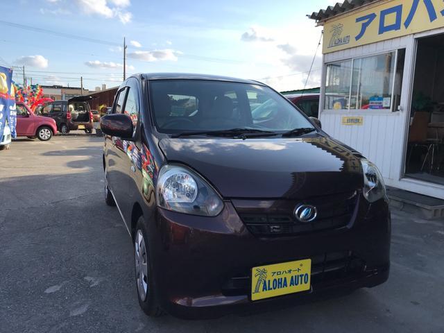 沖縄の中古車 ダイハツ ミライース 車両価格 47万円 リ済別 2012(平成24)年 5.3万km ブラウンM