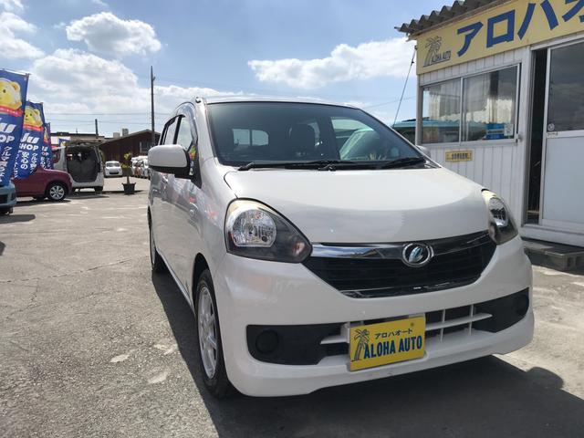 沖縄の中古車 ダイハツ ミライース 車両価格 49万円 リ済別 2014(平成26)年 6.2万km ホワイト