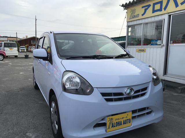 沖縄の中古車 ダイハツ ミライース 車両価格 39万円 リ済別 2012(平成24)年 6.6万km ライトブルー