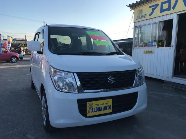 沖縄の中古車 スズキ ワゴンR 車両価格 57万円 リ済別 2014(平成26)年 7.4万km ホワイト