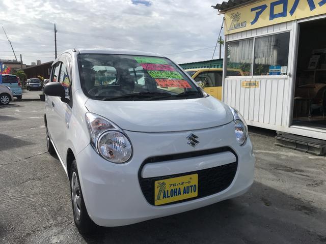 沖縄の中古車 スズキ アルト 車両価格 43万円 リ済別 2014(平成26)年 5.1万km ホワイト
