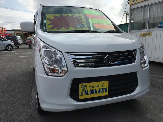 沖縄の中古車 スズキ ワゴンR 車両価格 57万円 リ済別 2014(平成26)年 7.0万km ホワイト