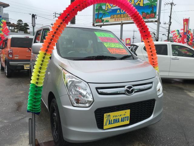 沖縄の中古車 マツダ フレア 車両価格 62万円 リ済別 2016(平成28)年 6.5万km シルバーM