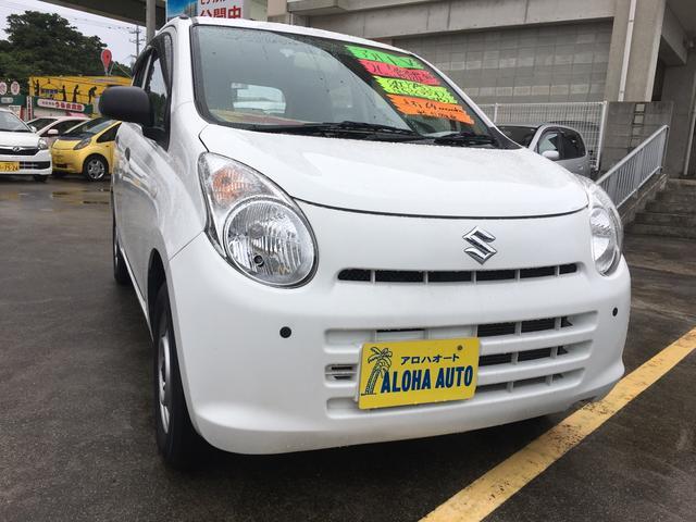 沖縄の中古車 スズキ アルト 車両価格 33万円 リ済別 2014(平成26)年 6.4万km ホワイト