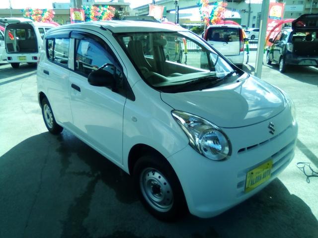 沖縄の中古車 スズキ アルト 車両価格 35万円 リ済別 2014(平成26)年 5.2万km ホワイト