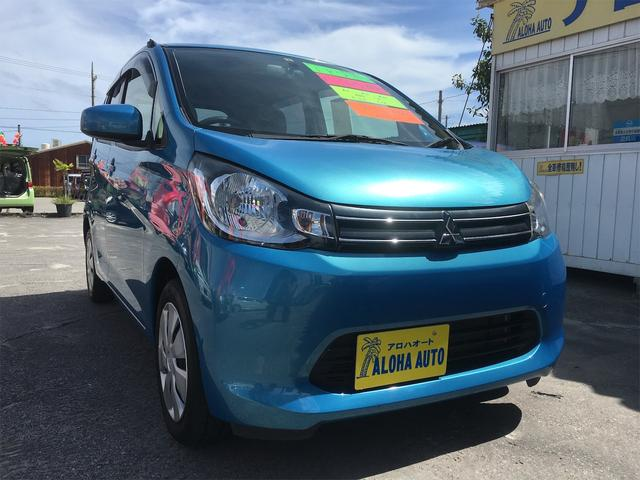 沖縄の中古車 三菱 eKワゴン 車両価格 55万円 リ済別 2013(平成25)年 4.2万km ブルーM