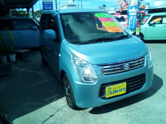 沖縄の中古車 スズキ ワゴンR 車両価格 59万円 リ済別 2013(平成25)年 5.7万km ブルーM