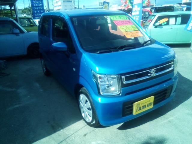沖縄県豊見城市の中古車ならワゴンR ハイブリッドFX アイドリングストップ/新軽量衝撃吸収ボディ-/エコクール