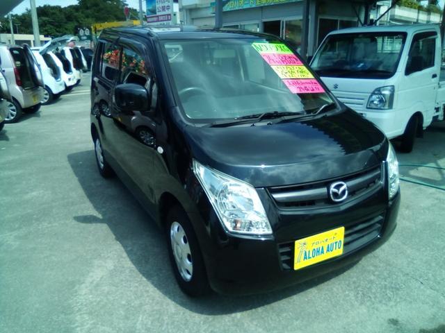 沖縄の中古車 マツダ AZワゴン 車両価格 49万円 リ済別 2012(平成24)年 6.3万km ブラック