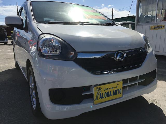 沖縄の中古車 ダイハツ ミライース 車両価格 49万円 リ済別 2015(平成27)年 7.2万km ホワイト
