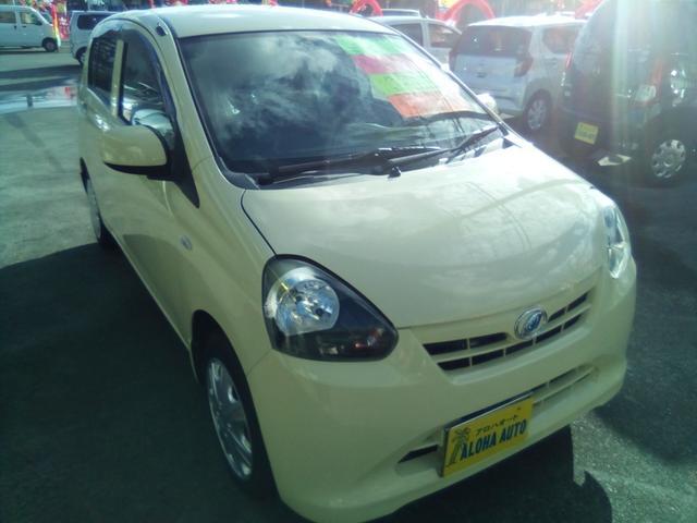 沖縄の中古車 ダイハツ ミライース 車両価格 37万円 リ済別 2012(平成24)年 7.7万km ライトイエロー