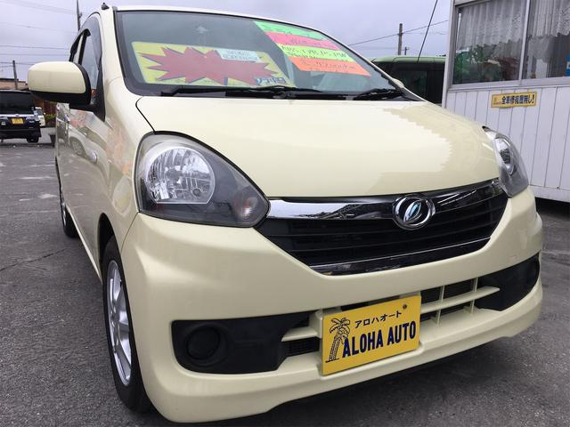沖縄の中古車 ダイハツ ミライース 車両価格 49万円 リ済別 2013(平成25)年 4.2万km ライトイエロー