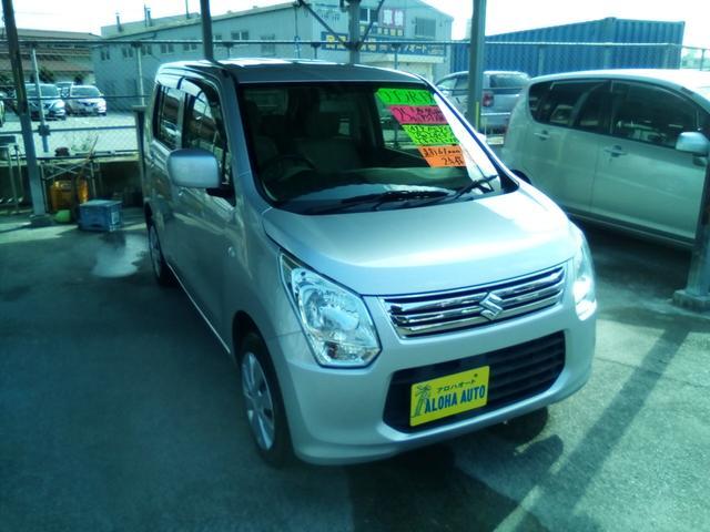 沖縄の中古車 スズキ ワゴンR 車両価格 52万円 リ済別 2013(平成25)年 6.1万km シルバー