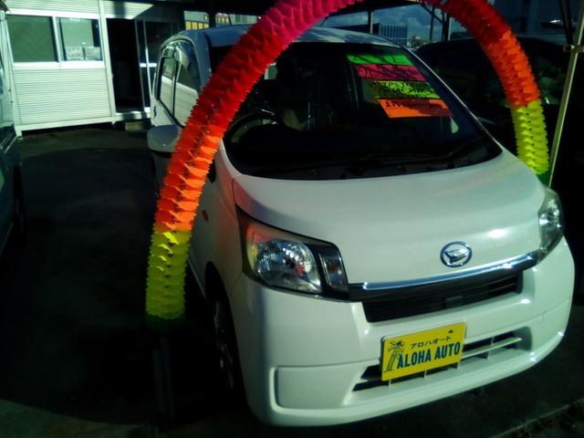 沖縄の中古車 ダイハツ ムーヴ 車両価格 49万円 リ済別 2013(平成25)年 6.8万km ホワイト