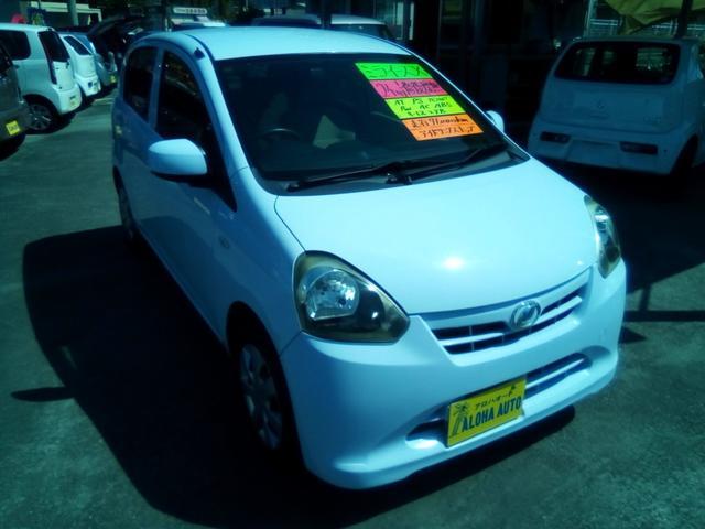 沖縄の中古車 ダイハツ ミライース 車両価格 42万円 リ済別 2012(平成24)年 7.1万km ライトブルー