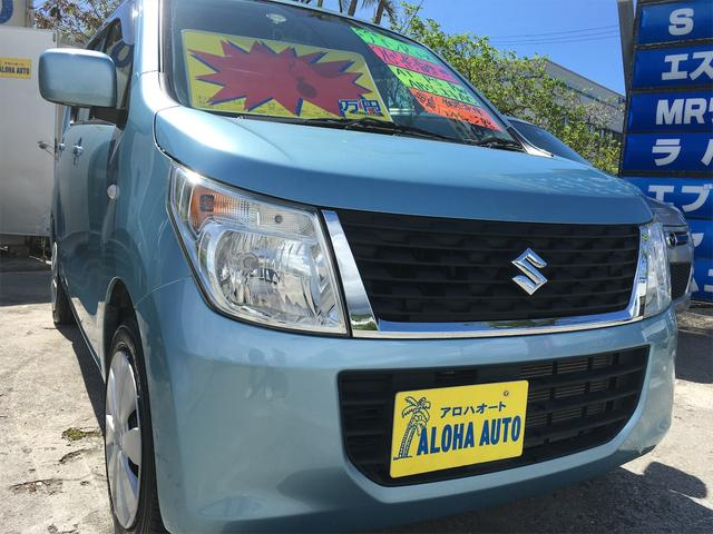 沖縄の中古車 スズキ ワゴンR 車両価格 55万円 リ済別 2014(平成26)年 7.0万km ブルーM