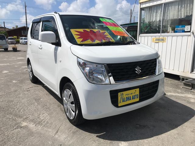 沖縄の中古車 スズキ ワゴンR 車両価格 62万円 リ済別 2016(平成28)年 7.4万km ホワイト