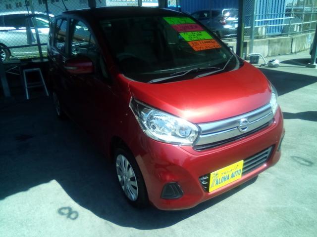 沖縄の中古車 日産 デイズ 車両価格 63万円 リ済別 2016(平成28)年 7.2万km ダークレッド