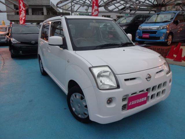 沖縄の中古車 日産 ピノ 車両価格 29万円 リ済別 平成20年 5.9万km スペリアホワイト