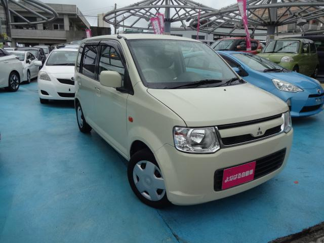 沖縄の中古車 三菱 eKワゴン 車両価格 19万円 リ済別 2008(平成20)年 9.6万km ライトイエロー