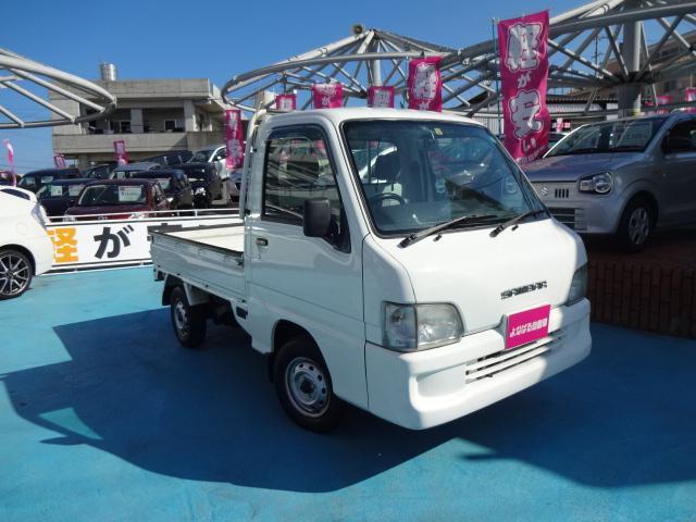 沖縄の中古車 スバル サンバートラック 車両価格 29万円 リ済込 2002(平成14)年 10.1万km ホワイト